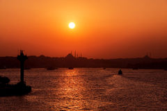 Sunset in Istanbul Royalty Free Stock Image