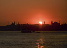 Sunset istanbul Royalty Free Stock Images