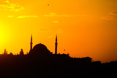 Sunset in Istanbul Royalty Free Stock Images
