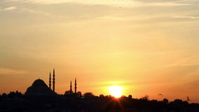 Sunset in Istanbul stock video