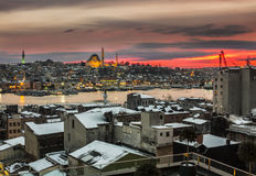 Sunset İstanbul Royalty Free Stock Photos