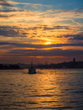 Sunset in Istanbul Royalty Free Stock Photos
