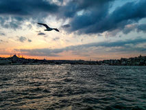 Sunset istanbul. Sunset time in istanbul Stock Images