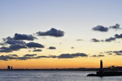Sunset In Istanbul, Turkey Royalty Free Stock Photography