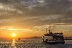 Sunset At Istanbul, Turkey Stock Images