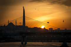 Sunset in Istanbul Royalty Free Stock Photo
