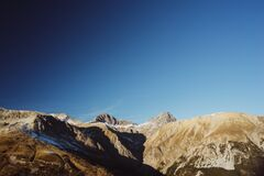Sunset in the Italian Alps Stock Photography