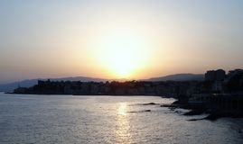 Sunset in Italy. An amazing sunset in summer, Italy Stock Photography