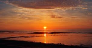 Sunset in Italy. Sunset on the beach , Imperia , Italy Stock Photo