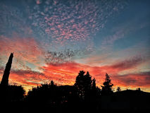 Sunset in italy. A beautiful sunset , end of summer Royalty Free Stock Image