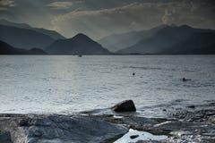 Sunset on Italy lake Royalty Free Stock Photos