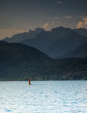 Sunset on Italy lake Royalty Free Stock Photo