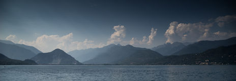 Sunset on Italy lake Stock Photography