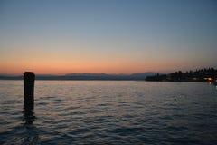 Sunset in Italy stock photo