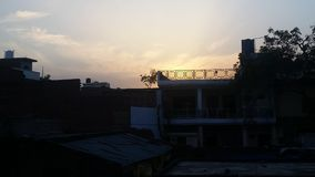 Sunset. Its evening time in city Stock Image