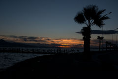 Sunset izmir. Royalty Free Stock Images
