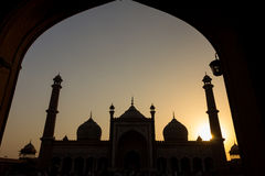 Sunset in Jama Masjid Mosque in Delhi Stock Images