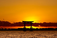 Sunset Japan behind the cloud Royalty Free Stock Photo