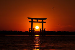 Sunset Japan Gate 02 Stock Photography