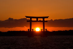 Sunset Japan Gate  Royalty Free Stock Photo