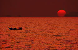Sunset in Japanese style-3 Royalty Free Stock Photos