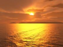 sunset jarzeniowy royalty ilustracja