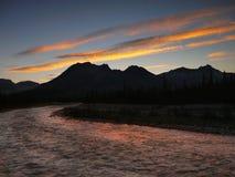 Sunset Jasper NP Canadian Rockies Stock Photography