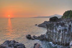 Sunset on jeju Royalty Free Stock Image