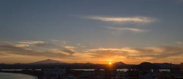 Sunset on jeju do Royalty Free Stock Photos