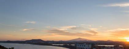 Sunset on jeju do Stock Image