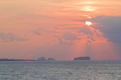 Sunset at Jeju Island. Photograph of a sunset at Jeju Island, South Korea Royalty Free Stock Photography