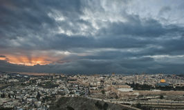 Sunset in jerusalem Royalty Free Stock Photography