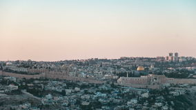Sunset in Jerusalem stock video