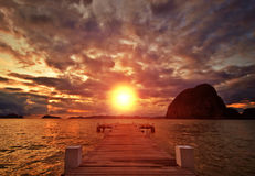 Sunset Jetty Royalty Free Stock Photo