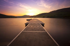 Sunset jetty Royalty Free Stock Photography