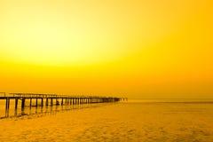 Sunset jetty scenic Royalty Free Stock Photo