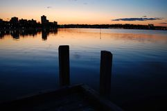 Sunset Jetty royalty free stock images