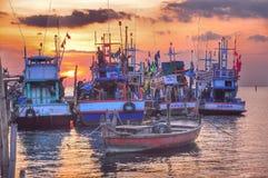 Sunset at Jetty wonnapa beach Stock Photos
