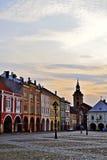 Sunset in Jičin. Sunset on the town square in Jičin, Czech Republic stock photo
