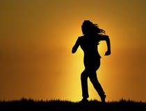 Sunset Jogger 3 Royalty Free Stock Photos