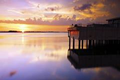 Sunset in Johore, Malaysia Royalty Free Stock Photos
