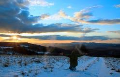 Sunset Joy Royalty Free Stock Image