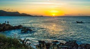 Sunset juan griego Royalty Free Stock Photos