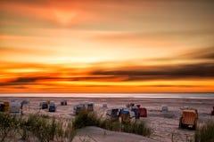 Sunset on Juist Royalty Free Stock Photo