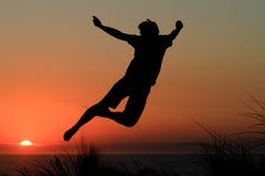Free Sunset Jump Stock Photography - 16497452
