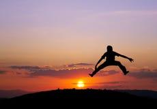 Sunset jump Royalty Free Stock Photo