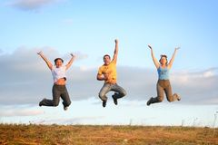 Sunset jump Royalty Free Stock Photo