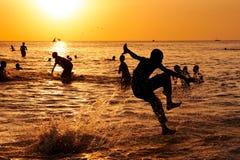 Sunset jumper Stock Photos