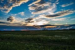 Sunset in June. Moscow province Royalty Free Stock Images