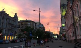 Sunset. Just a cool sunset in Kyiv Stock Image